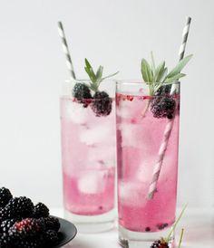 Blackberry Sage Spritzers