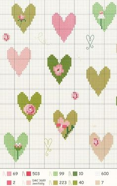 Cross Stitch Borders cross stitch chart by barbra Small Cross Stitch, Cross Stitch Heart, Cross Stitch Borders, Cross Stitch Flowers, Cross Stitch Designs, Cross Stitching, Cross Stitch Embroidery, Embroidery Patterns, Hand Embroidery