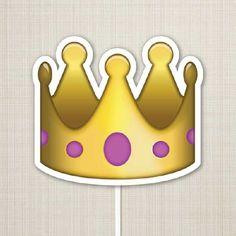 Placa Emoji Coroa