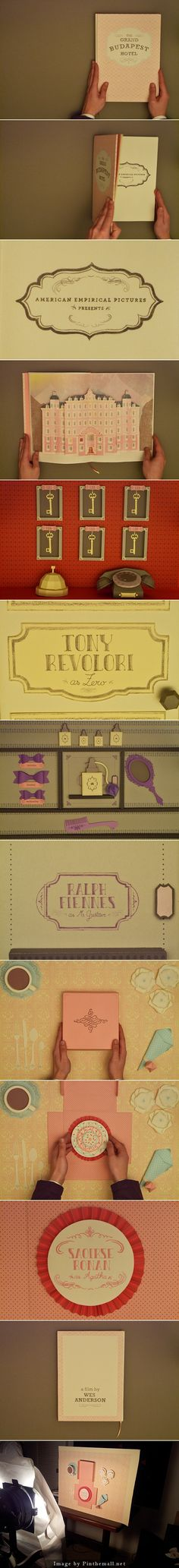 The Grand Budapest Hotel by Sabrina Giselle Acevedo -- loved the visuals in this film. This is also gorgeous! Wes Anderson Movies, The Royal Tenenbaums, Grand Budapest Hotel, Moonrise Kingdom, Film Stills, Film Director, Filmmaking, Branding, My Favorite Things