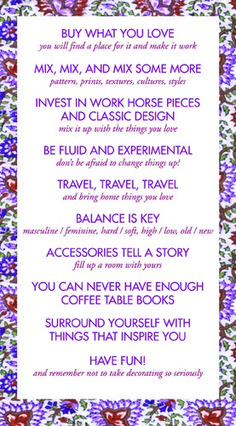Style Curator Manifesto Not Necessarily One That I Agree With But A Good Example For Making Your Interior Design