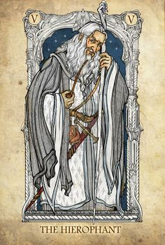 THE HIEROPHANT | The Lord of the Rings Tarot Deck