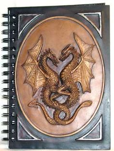 "Double Dragon Resin Journal 6"" x 8"""