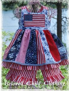 july 4th toddler dresses