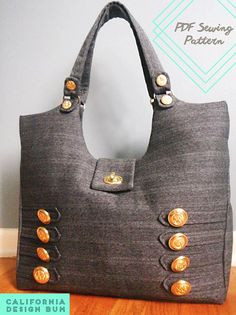 Modern Military-Style Purse PDF Sewing Pattern from California Beach Bum