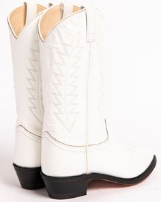 Old West Corona Cowgirl Boots - Medium Toe, White Womens Cowgirl Boots, Cowboy Boots, Black Faux Leather, Smooth Leather, Stitching Leather, Get Directions, Old West, Heeled Boots, Toe