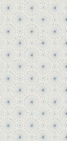 This light blue starburst wallpaper is in such a nice simple and subtle retro style.