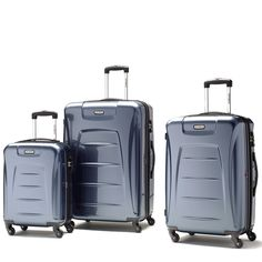 SET OF 3 BLUE SUITCASES - Google Search Suitcases, Tech, Google Search, Blue, Suitcase, Technology