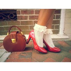 Victoria M. takes on the socks-with-heels trend... and totally owns it! #tuesdayshoesday