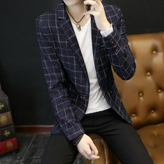2017 New Fashion Casual Men Blazer Cotton Slim fit Style Suit Blazer Masculino Male Suits Jacket Blazers Men. Yesterday's price: US $54.40 (47.25 EUR). Today's price: US $29.38 (25.36 EUR). Discount: 46%.