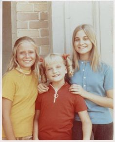 The Brady Girls Yesterday - Eve Plumb (Jan), Susan Olson (Cindy), and Maureen McCormick (Marcia) n a group shot from either Season 3 or 4 not sure which.