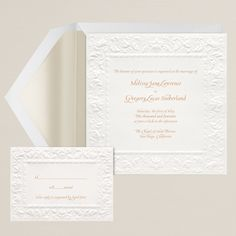 so pretty....sometimes simple is as good as it gets....Old World Elegance Wedding Invitation   #exclusivelyweddings