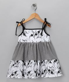 Take a look at this Black Flower Dress - Infant, Toddler & Girls by De n' L on #zulily today!