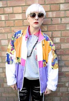 80's Adidas Shell Suit Jacket - Windbreaker - Medium