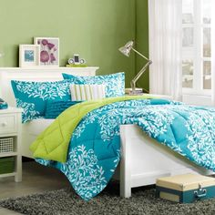 Home Essence Monaco Bedding Comforter Set, Blue