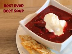 Best Ever Beet Soup Recipe Swap potatoes for sweet potatoes or white beans for FMD Beet Recipes, Veggie Recipes, Crockpot Recipes, Soup Recipes, Cooking Recipes, Beet Soup, Soup And Salad, Ukrainian Recipes, Ukrainian Food