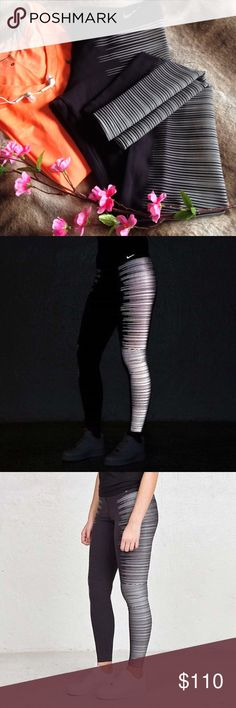 Nike Flash Reflective Running Thights The running tights are amazing! Great condition, only worn once, no signs of wear. ---- Designed for running in low light, the Nike Flash Women's Running Tights help keep you dry and visible before dawn and after dark with sweat-wicking fabric and enhanced reflectivity. ---- Size S, price is negotiable, I accept reasonable offers  Nike Pants Leggings