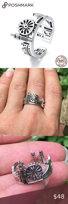 🌹London 925 Silver Adjustable Ring🌁 Stunning ring of London! 925 Sterling Silver. Adjustable size💋 Jewelry Rings 925 Silver, Silver Rings, Sterling Silver, Plus Fashion, Womens Fashion, Fashion Tips, Fashion Design, Fashion Trends, Womens Jewelry Rings
