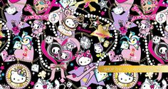 Bunny Says...: Tokidoki x Hello Kitty Jeweled Collection, Simone Legno. This was a nice graphical representation that highlighted both companies...