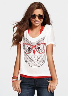 Trend t-Shirt,Bear in Glasses Fun Fashion Personality Customization