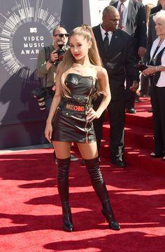 Ariana Grandein Moschino at the at the 2014 MTV Video Music Awards