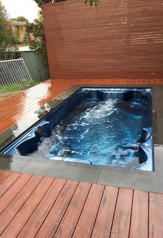 Box Hill Install - Endless Spas and Pools Swim Spa with Mod Wood decking and Bluestone paving!