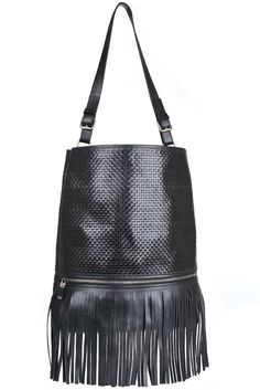 Geanta sac cu franjuri piele neagra Bordeaux, Bags, Fashion, Handbags, Moda, Fashion Styles, Bordeaux Wine, Fashion Illustrations, Bag