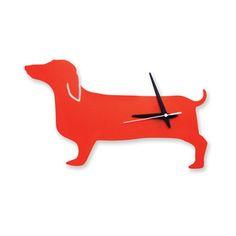 Happy Hot Dog Clock Orange  by Naked Décor