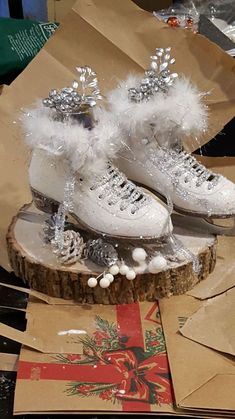Ice+Skate+Winter+Centerpiece
