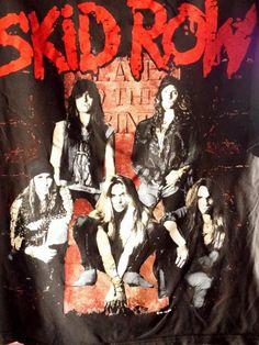 SKID ROW '91-'92 Vintage Concert T-shirt XL AMERICA Tour EXCELLENT #34745 #Unbranded #BasicTee
