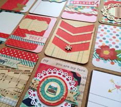 Dozen Handmade Project Life Cards 3x4 by jessicabree on Etsy, $7.75 (no longer available, but cute ideas!!)