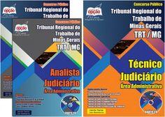 Apostilas Concurso Tribunal Regional do Trabalho - TRT da 3ª Região / 2015: - Cargos: Técnico Judiciário - área: Administrativa e Analista Judiciário - área: Administrativa