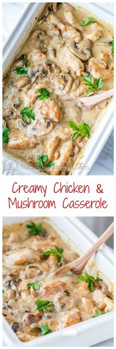 Creamy Chicken and Mushroom Casserole | 15 Yummy Chicken Casserole Recipes to Feed the Whole Family