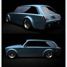 Нашел интересную версию дизайна ВАЗ 2102 в исполнении Gran Turismo. Автор - Николай Шадрин, Украина. Машина имеет трехдверный кузов, более низкую крышу и стойки, более широкие колесные арки, модернизированную переднюю и заднюю светотехнику, безрамное остекление. Как вам? #lada2102 #vaz2102 #ladagt #granturismo #customcar #low #wide #rsgarage #лада2102 #ваз2102 #грантуризмо #двойка #двоечка