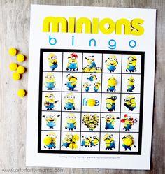 Free Printable Minions Bingo at artsyfartsymama.com