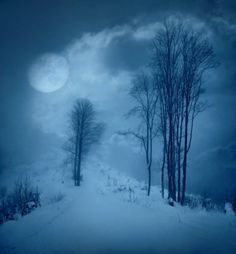 Moon glow on snow.