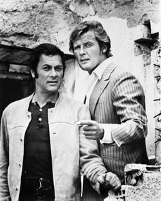 Roger Moore and Tony Curtis as Brett Sinclair and Tony Wilde in The Persuaders. (One of the best TV-serie ever!!)
