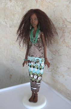 OOAK African BJD Adina 02 by alaskabody-dolls on deviantART