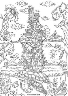 Detailed Coloring Pages, Fairy Coloring Pages, Adult Coloring Book Pages, Printable Adult Coloring Pages, Animal Coloring Pages, Coloring Pages For Kids, Coloring Sheets, Coloring Books, Kids Colouring