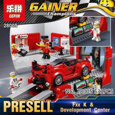 34.99$  Watch now - http://aic89.worlditems.win/all/product.php?id=32797993361 - 2017 Lepin 28005 NEW Super Racer Series The FXX K and Development Center Set Educational Building Blocks Bricks Toys Gifts 75882