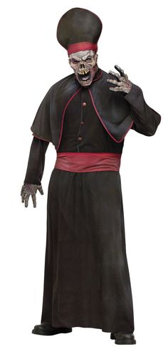 Buy Mens Zombie High Priest Costume, available for Next Day Delivery. There will be no repenting this Halloween when you choose our Mens High Priest Zombie Costume!Our costume includes the full length black Robe with a button up c . Jafar Costume, Pope Costume, Doctor Costume, Adult Costumes, Halloween Costumes, Zombie Costumes, Halloween Outfits, Spooky Halloween, Girl Zombie Costume