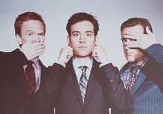 Boys of How I Met Your Mother!  Neil Patrick Harris, Josh Radnor, & Jason Segel. <3