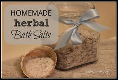1 cup Epsom salt  ½ cup natural sea salt  20-30 drops essential oils.  (Optional) 2-3 tablespoons dried herbs or botanicals. Directions: Combine all ingredients in a bowl and mix well. Transfer to a glass container with a tight-fitting lid. To use: Add approximately ½ cup of bath salts to warm running bath water.