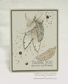 Stamp & Create With Sabrina: Feathers & Thank You
