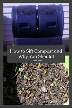 How to fix wet, smelly compost and sift and separate finished compost from the the rest of the matter in a compost bin #compost #organicgardeningtips #greenlivingideas #frugalgardening Biodegradable Products, Organic Gardening, Gardening Tips, Compost Turner, Black Soil, Green Living Tips, Earthworms, Grow Your Own Food