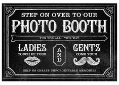 Personalised photo booth sign Confetti Shop