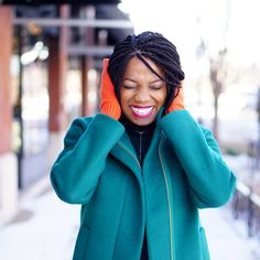 Colorblocking with Cold Weather Accessories