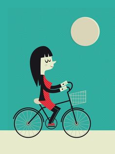 Jeremie Claeys - Girl on a bike : you can buy that one as a print here : http://www.eastendprints.co.uk/art/471067/Girl_on_a_Bike