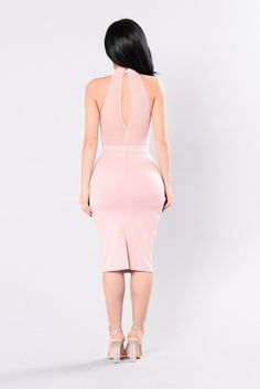 Secret Identity Dress - Mauve