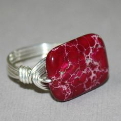 Fuschia Rose Ring  sterling silver wire  by SusansJewelryDesigns, $21.00